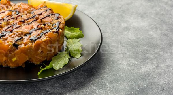 The tartare sauce from a salmon  Stock photo © markova64el