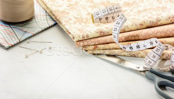Cucire accessori copia spazio mentire bianco Foto d'archivio © markova64el