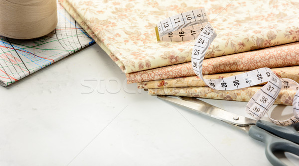 Sewing accessories. Copy space. Stock photo © markova64el