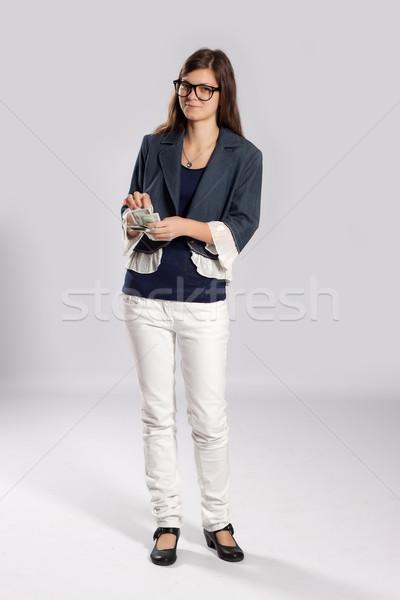 Młoda kobieta ceny młodych kobieta ręce biuro Zdjęcia stock © maros_b