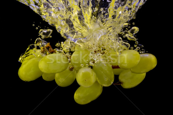 Winogron Fotografia żółty odizolowany czarny Zdjęcia stock © maros_b
