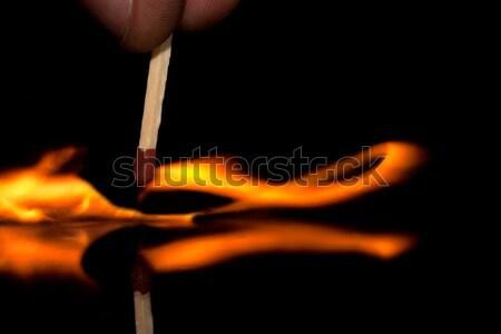 забастовка сжигание матча зажигание отражение стекла Сток-фото © maros_b