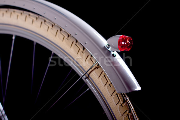 古い レトロな 自転車 細部 孤立した 黒 ストックフォト © maros_b