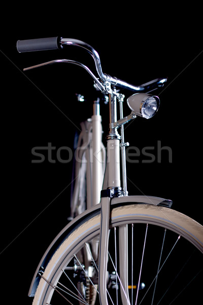 Old refurbished retro bike - Details Stock photo © maros_b