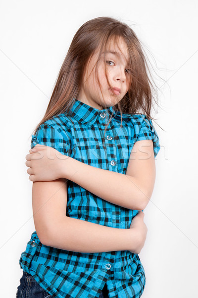 Disheveled looking young girl Stock photo © maros_b