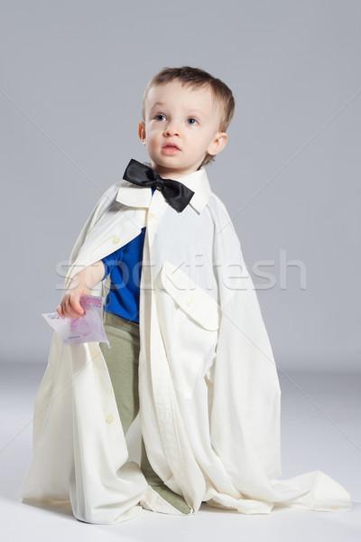 Chłopca biznesmen stałego muszka strony Zdjęcia stock © maros_b