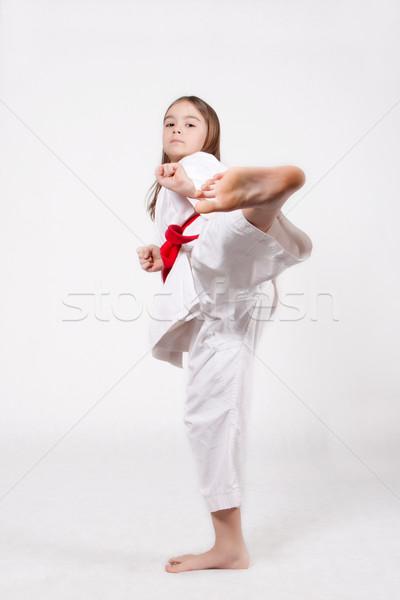 Stock photo: Kicking
