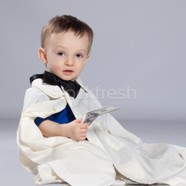 Toddler boy businessman Stock photo © maros_b