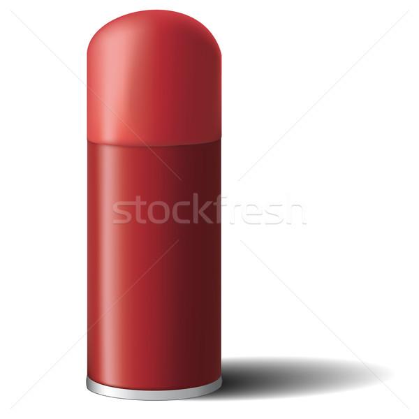Spray zárva piros domb 3D formátum Stock fotó © maros_b