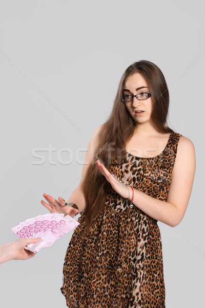 Menina adolescente adolescente menina leopardo vestir mulher Foto stock © maros_b