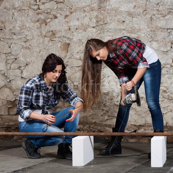 два угол молодые женщину Сток-фото © maros_b