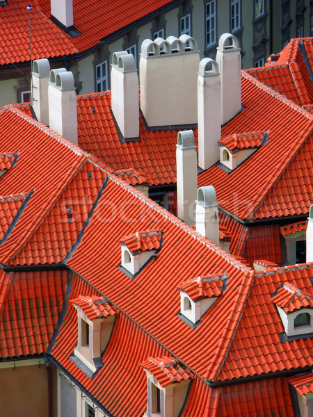 Red roofs, Prague Stock photo © martin33