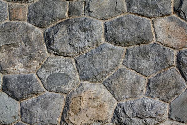 Alvenaria parede fundo papel de parede rochas pedras Foto stock © martin33