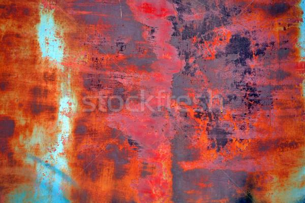 Grunge paslı doku soyut arka plan mavi Stok fotoğraf © martin33