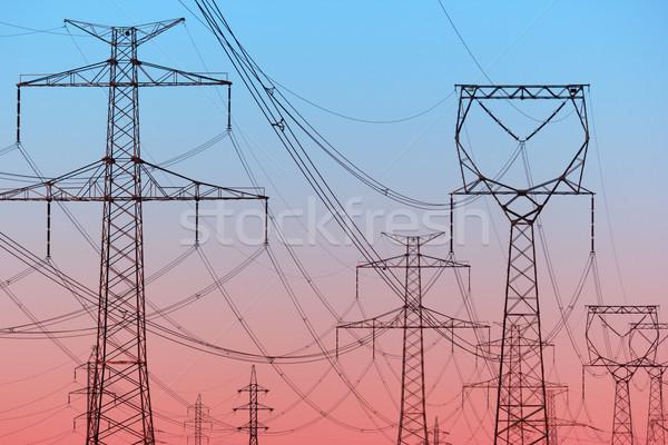 Ciel technologie réseau industrie Photo stock © martin33