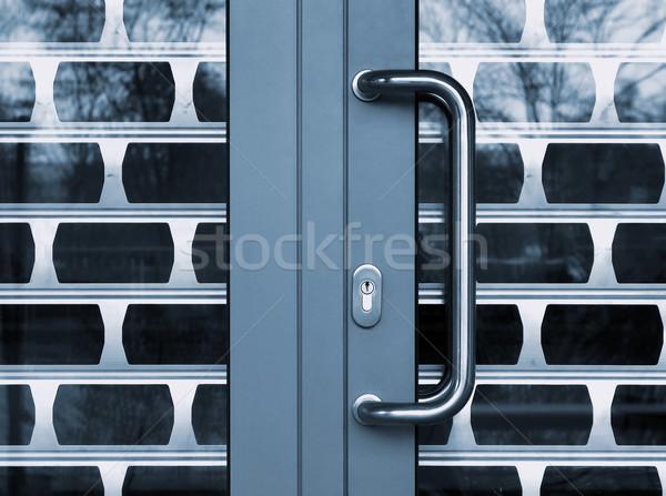 Güvenlik kapılar ışık cam kilitlemek yapı Stok fotoğraf © martin33