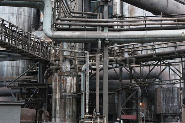 Bâtiment construction technologie industrielle usine tour Photo stock © martin33