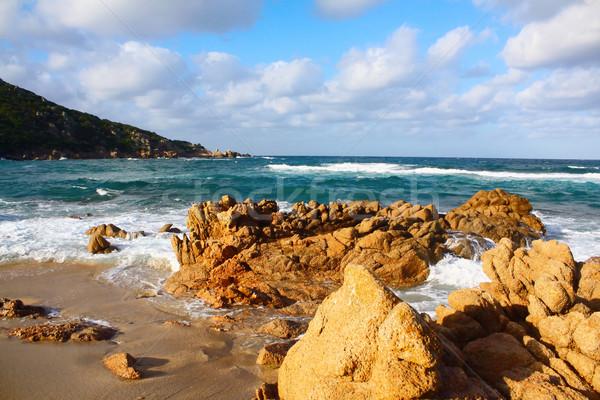 Plaj korsika güneş doğa ışık yaz Stok fotoğraf © martin33