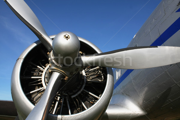 classic aircraft engine Stock photo © martin33