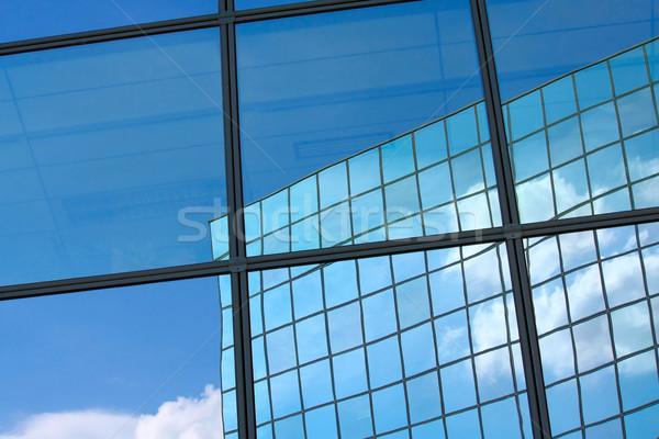 Pencere yansıma şehir cam mavi mimari Stok fotoğraf © martin33