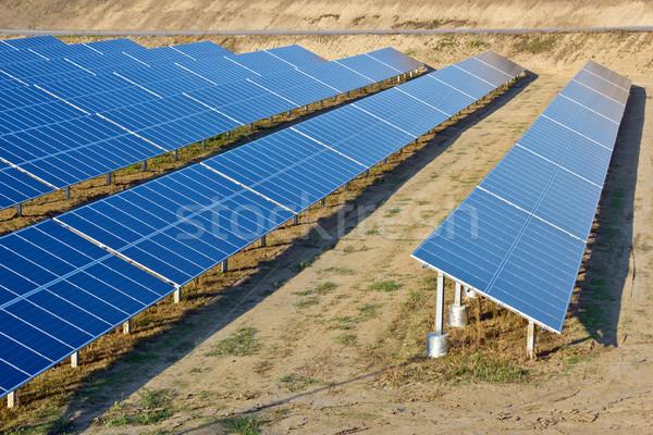 Energia solar planta sol tecnologia deserto energia Foto stock © martin33