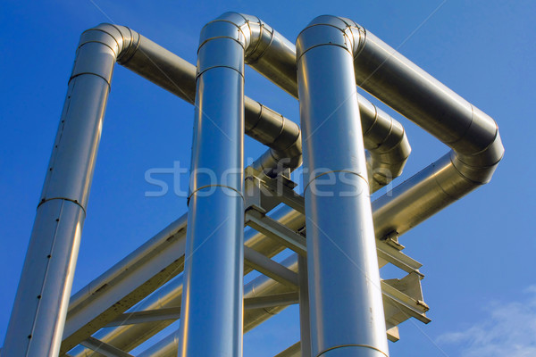 metallic pipeline Stock photo © martin33