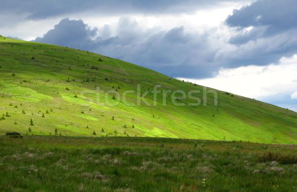 Bergen landschap wolken natuur berg zomer Stockfoto © martin33