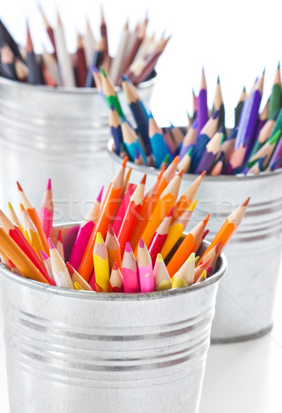 Couleur crayons crayon éducation vert rouge Photo stock © martin33