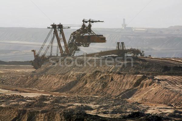 Kömür madencilik çalışmak teknoloji sanayi endüstriyel Stok fotoğraf © martin33