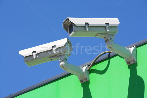 Stock photo: security cameras
