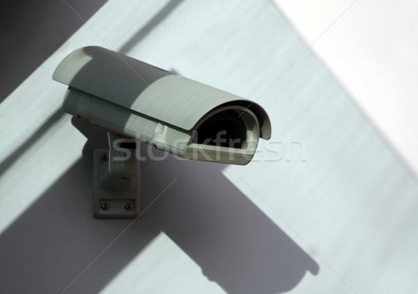 Güvenlik kamera göz televizyon duvar teknoloji güvenlik Stok fotoğraf © martin33