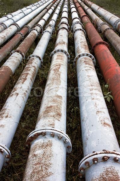 Csővezeték ipari technológia ipar olaj energia Stock fotó © martin33