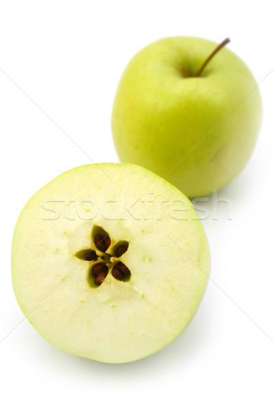Groene appels achtergrond vruchten witte schaduw Stockfoto © martin33
