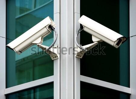 Telecamera di sicurezza blu urbana guardare tech record Foto d'archivio © martin33