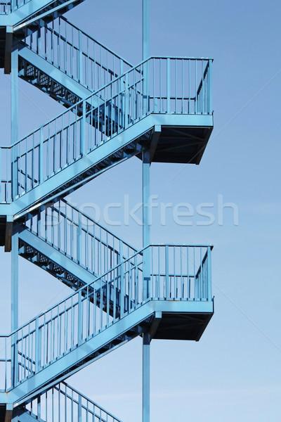 blue staircase Stock photo © martin33