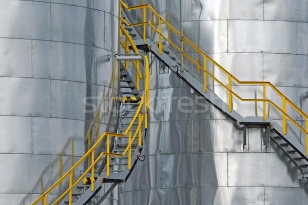 Gaz réservoir texture métal pétrolières plaque Photo stock © martin33