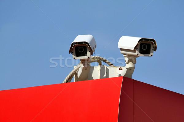 Güvenlik kamera televizyon teknoloji video izlemek kayıt Stok fotoğraf © martin33