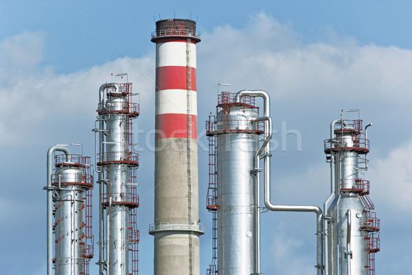 Refinería azul industria petróleo nube acero Foto stock © martin33