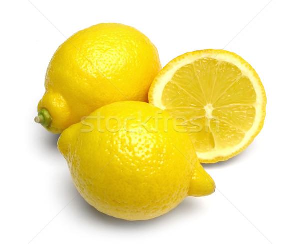 Citrons fruits blanche ombre fraîches régime alimentaire Photo stock © martin33