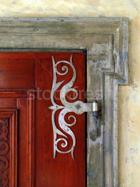古い ドア 家 木材 ドア アーキテクチャ ストックフォト © martin33
