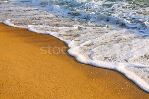 Su plaj arka plan okyanus kum banka Stok fotoğraf © martin33