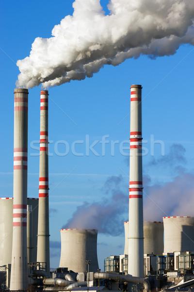 уголь электростанция тесные мнение здании дым Сток-фото © martin33