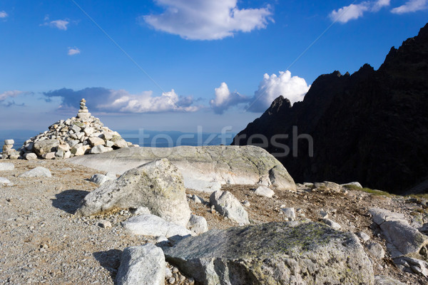 Cairn in mountains Stock photo © martin33