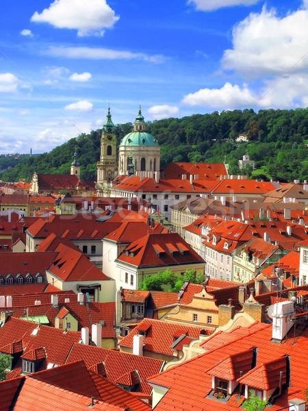 Prag şehir kilise kule görmek manzara Stok fotoğraf © martin33