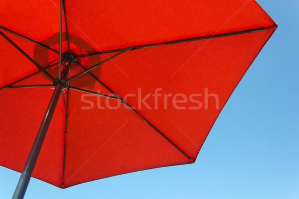 赤 パラソル 青 色 休日 休暇 ストックフォト © martin33