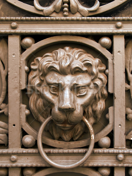 lion knocker Stock photo © martin33