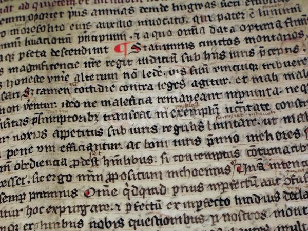 Médiévale écrit signe lettre rouge noir Photo stock © martin33