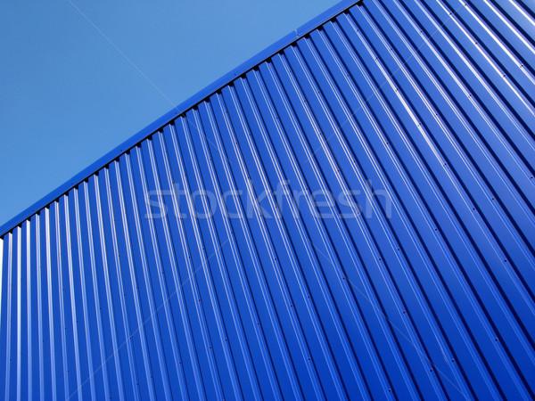 Mavi yüzey gökyüzü Bina duvar dizayn Stok fotoğraf © martin33
