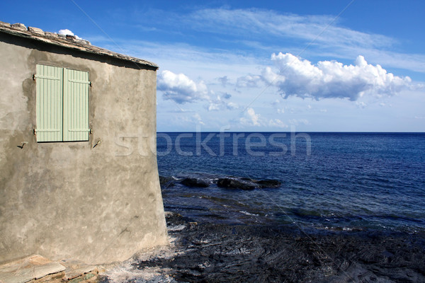 House on coast, Corsica Stock photo © martin33