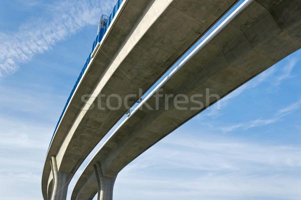 Autoroute pont route bâtiment bleu modernes Photo stock © martin33